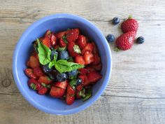 Strawberry Salsa with Fresh Basil and Balsamic – The Perfect Summer Appetizer via omgyummy.com