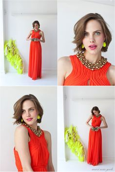 tangerine tango bridesmaids dress definitely would do it in another color, but I love the style