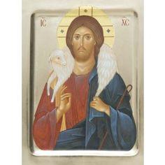 Icon of Jesus Christ the Good Shepherd, tempera. Catalog of St Elisabeth…