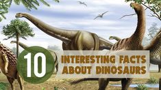 Explore the world's most exciting prehistoric creatures with our fun dinosaur facts, ranging from the carnivorous T-rex to the stubby-legged ankylosaur. Dinosaur Facts, Largest Dinosaur, 10 Interesting Facts, Prehistoric Creatures, Animal Masks, Dig Deep, 4 H, T Rex, Lululemon Logo