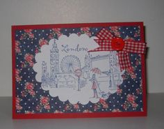 MAY 2012 - The Diamond Jubilee (The Queen) - Floral London Card with ribbon decoration, by The Sparkle Fairy, £2.50