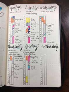 6 Awesome Bullet Journal Time Trackers ⋆ Sheena of the Journal Bullet Journal Time Tracker, Bullet Journal Goals Page, Bullet Journal Monthly Spread, Bullet Journal Writing, Bullet Journal Ideas Pages, Bullet Journal Inspiration, Journal Pages, Bullet Journals, Journal Layout