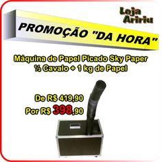 OFERTA! Máquina de Papel Picado Sky Paper ½ Cavalo + 1kg de Papel De R$ 419,90 Por R$ 398,90 - http://www.aririu.com.br/maquina-de-papel-picado-sky-paper-cavalo-bivolt-1kg-papel-109xJM