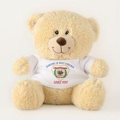 86479f00210 West Virginia Loves You Teddy Bear Happy Birthday Teddy Bear