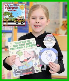 """ONLY $1.50 through 2/28/16! """"There Was an Old Lady Who Swallowed a Clover"""" Retelling, Writing, and Math Too! This pack is a great companion full of activities inspired by Lucille Colandro's St. Patrick's Day story!"""