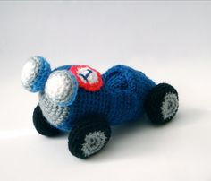 Crochet Vintage Race Car
