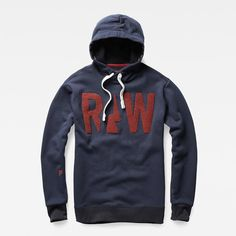 In soft and fleecy sweat fabric, this hooded sweat features a bold, textured graphic and dynamic angled shoulder seams.