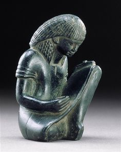 Seated Scribe, Egyptian statue 1391 B.C. Detroit Institute of Arts