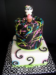 Punk Panda Cake-By The Mad Platters