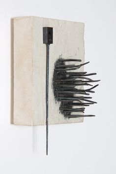 Sonic cloud, 2013, 10 x 6 x 5 inches, abaca paper, wood, iron, graphite