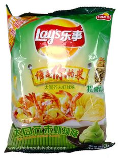 Lay's Fun Wasabi Shrimp Flavor Potato Chips by theimpulsivebuy, via Flickr