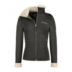 Darina Fleece Jacket, dark grey with fab fur colour and cuffs.  Real luxury, co ordinates with other items in the winter range