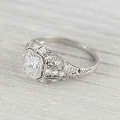 .75 Carat Vintage Art Deco Diamond Engagement Ring Circa 1920s