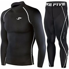 Skin Tight Compression Base Layer Long Sleeve Under Shirt  #Running