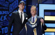 Goff fue el primer seleccionado el jueves por los Rams, en su primer draft desde que volvieron a Los Ángeles
