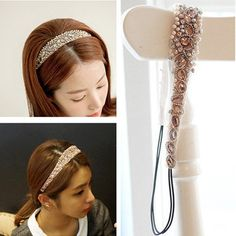 Smile Korean Hair accessories Rhinestone Pearls Headbands Girls Headwear ** Click on the image for additional details. #hairupdos