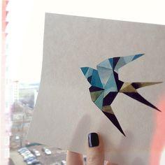 """#swallow #watercolor #sashaunisex"""