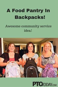Community Service: A Food Pantry in Backpacks - PTO Today Food Bank, A Food, Little Free Pantry, Pto Today, Community Service Projects, Blessing Bags, Food Program, Learn To Run, School Community