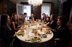 Still of Ewan McGregor, Julia Roberts, Juliette Lewis, Dermot Mulroney, Chris Cooper, Margo Martindale, Julianne Nicholson, Abigail Breslin and Benedict Cumberbatch in August: Osage County (2013)