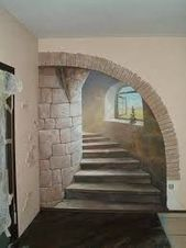 Ideas wall stone interior stairs for 2019 Art Mural 3d, 3d Wall Art, Mural Painting, Image Painting, Stone Interior, Interior Stairs, Wall Design, House Design, Illusion Paintings