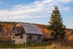 Russian village Korsakov