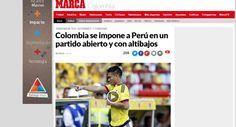 Selección: ¿Qué dijo prensa mundial tras derrota con Colombia? | El Comercio Perú. Octubre 09, 2015.