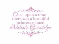 Once Upon a Time there was a Princess Personalized by wallartsy, $45.00