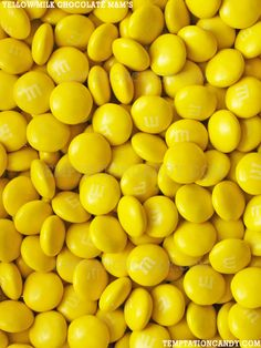 Yummy Milk Chocolate Yellow M&M's Candy! What a perfect candy for any yellow themed party or candy buffet. People can never get enough M&M's, your party will be the talk of the town! Even your Haters will have to bow down and admire you and all your delicious Yellow M&M's. Approx. 400 M&M's per lb. #Chocolate