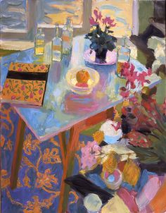 the artist's site  Women in Interior by Hugo Grenville British Painter