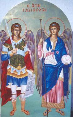 Η συγκεκριμένη μέρα είναι αργία για την πόλη μας, το Δήμο Κορυδαλλού γιατί οι Άγιοι Ταξιάρχες είναι οι πολιούχοι της. Μπορώ να ομολογήσω ό... Greek Islands, Sunday School, Princess Zelda, Baseball Cards, Painting, Fictional Characters, Angels, Icons, Style