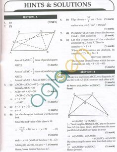 CBSE Solved Sample Papers for Class 9 Maths SA2 - Set A | tanmay ...
