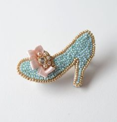 . embroidery brooch aa