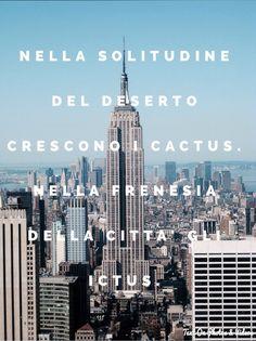 Nella solitudine del deserto crescono i cactus, nella frenesia della città gli ictus.