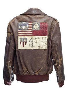 Uniform jacket, World War II Leather Flight Jacket, Leather Jackets, Korea, Nose Art, Sharp Dressed Man, Military Jacket, Military Uniforms, Military Style, Military Fashion