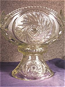 Punch Bowl  Set in Beautiful Depression Glass