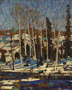 Tom Thomson March 1916 Canadian Landscape Artist Art Print by EnShape - X-Small Emily Carr, Canadian Painters, Canadian Artists, Abstract Landscape, Landscape Paintings, Oil Paintings, Klimt, Group Of Seven Paintings, Tom Thomson Paintings