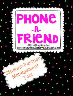 Phone a Friend {Student Partnering Management Tool} FREEBIE - Use this FREE partner phone activity to help your or grade students manage partners and use cooperative learning in the classroom. Tell your students to phone partner and partnering is done! 4th Grade Classroom, Classroom Freebies, Middle School Classroom, Classroom Behavior, Back To School, Classroom Ideas, School Stuff, Classroom Resources, Teacher Freebies