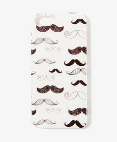 mustache print iPhone case