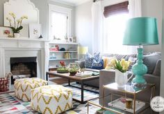 A Change of Color | Inspired by Charm walls are Aloof Gray by Sherwin Williams, fireplace wall is painted Sensible Hue by Sherwin Williams shade darker....looks nice!!