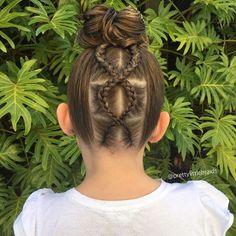 WEBSTA @ prettylittlebraids - I love styles that just look like a messy bun from the front and 'POP', there's a surprise at the back! Criss-cross inspired by @hair_by_pelerossi #cghphotofeature #industriebeauty #melbournehairstylist #melbournehairdresser #braid #braids #hairinspiration #cutegirlshairstyles #instabraid #instahair #modernsalon #hairdressermagic #pretty #dutchbraid #artistssupportingartists #braidingmommies #behindthechair #americansalon #peinados #messybun