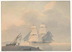Lodewijk Gilles Haccou, 1802 - Sailing ship in still water - art print, fine art reproduction, wall art Framed Canvas Prints, Canvas Frame, Painter Artist, Water Art, Modern Artists, Canvas Paper, Art Background, Art Reproductions, Sailing Ships