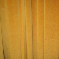 Mustard yellow velvet curtains!