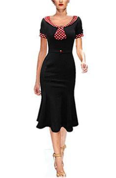 L'ALYSSE Robe Soirée Cérémonie Taille Haute Manche Courte Pois avec Ceinture Noir+Rouge pour Femme L L'ALYSSE http://www.amazon.fr/dp/B0183GH67M/ref=cm_sw_r_pi_dp_ypZIwb11VWQGW