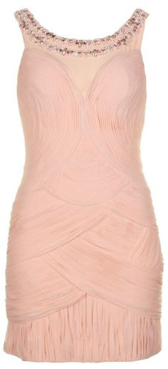 Forever Unique Womens Vanessa Nude Pink Dress