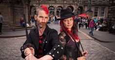 This HAS to be one of the coolest acts! Check out this Danger Duo! #mrandmrsdanger #streetperformers