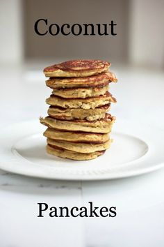 Man, these look good! Coconut Pancakes, gluten-free, grain-free, and delicious.