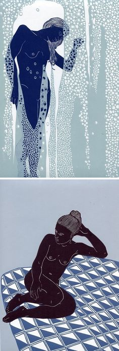 Linocut Prints by Ellen von Wiegand