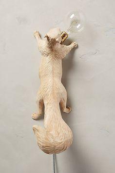 Flying Squirrel Handcarved Woodlore Sconce