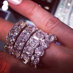 #Luxury platinum Diamond rings from La Dolce Vita ~ Colette @}-,-;---