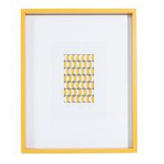 Cadre photo en bois jaune 25 x 31 cm ISAAC